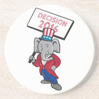 Republican Elephant Mascot Decision 2016 Placard C Coaster