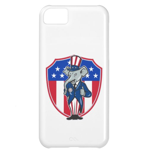Republican Elephant Mascot Thumbs Up USA Flag iPhone 5C Cover