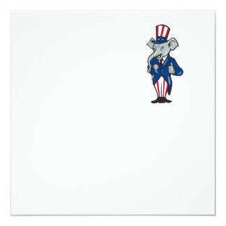 Republican Elephant Mascot Thumbs Up USA Flag Personalized Announcements