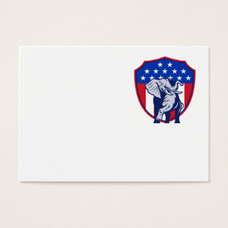 Republican Elephant Mascot USA Flag Business Card