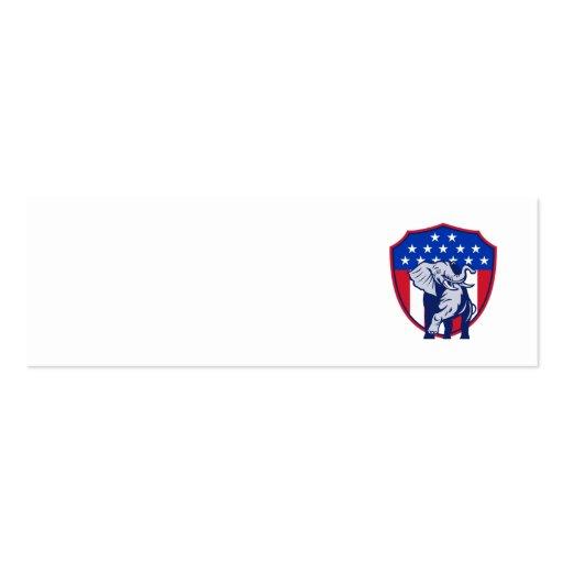 Republican Elephant Mascot USA Flag Business Card