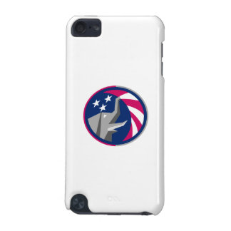 Republican Elephant Mascot USA Flag Circle Retro iPod Touch (5th Generation) Cover