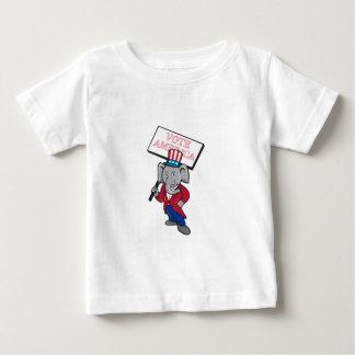 Republican Elephant Mascot Vote America Cartoon Baby T-Shirt