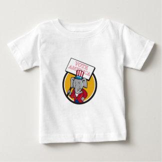 Republican Elephant Mascot Vote America Circle Car Baby T-Shirt