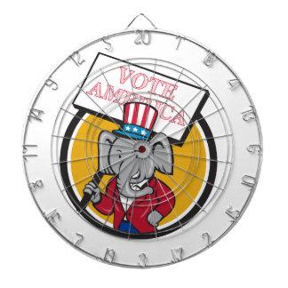 Republican Elephant Mascot Vote America Circle Car Dart Boards