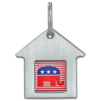 republican elephant pet tag