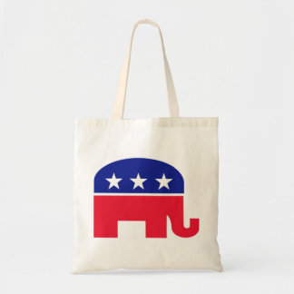 Republican Elephant Red, White and Blue Tote Bag