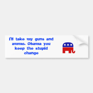 Republican-elephant, Republican-elephant, I'll ... Bumper Sticker
