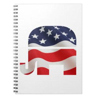 Republican Elephant Spiral Notebook