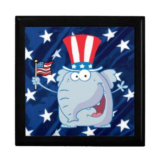 republican elephant tophat giftbox jewelry box