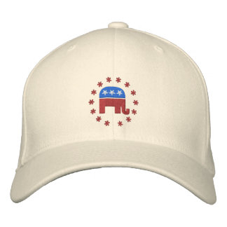 Republican Elephant with Star Logo Political Embroidered Hat