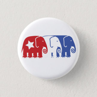 Republican Elephants 1 Inch Round Button