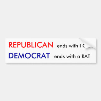 REPUBLICAN, ends with I CAN Bumper Sticker