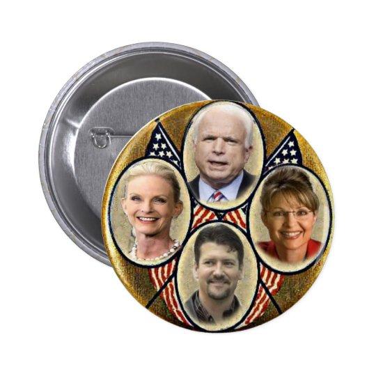 Republican Family Quadragate 3-Inch Button