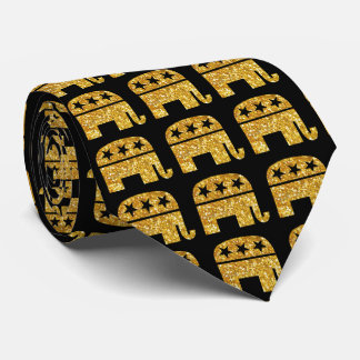 Republican GOP Elephant Tie
