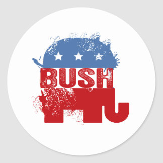 REPUBLICAN JEB BUSH CLASSIC ROUND STICKER