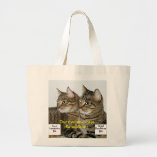 Republican Kitties Large Tote Bag