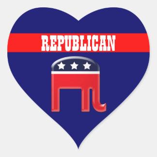 Republican party elephant mascot CUSTOMIZE Heart Sticker