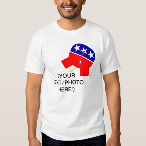 Republican Party Elephant Pissing On (Your Text) T-shirts