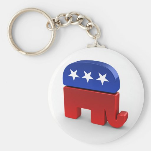 Republican Party Keychain