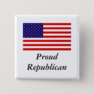 Republican Pride 2 Inch Square Button