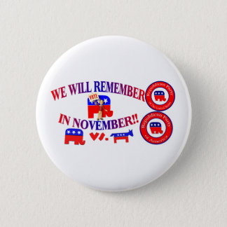 Republican Remember In November Anti ObamaCare 2 Inch Round Button