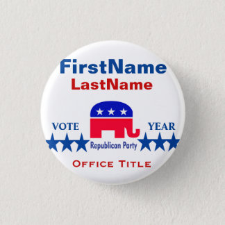 Republican Round Button Template