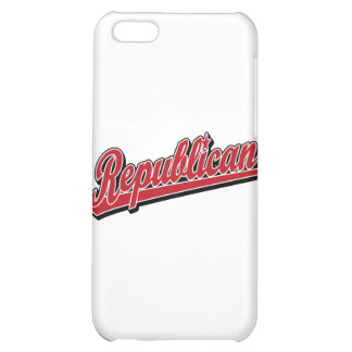 Republican Script Logo Deluxe Red iPhone 5C Cover