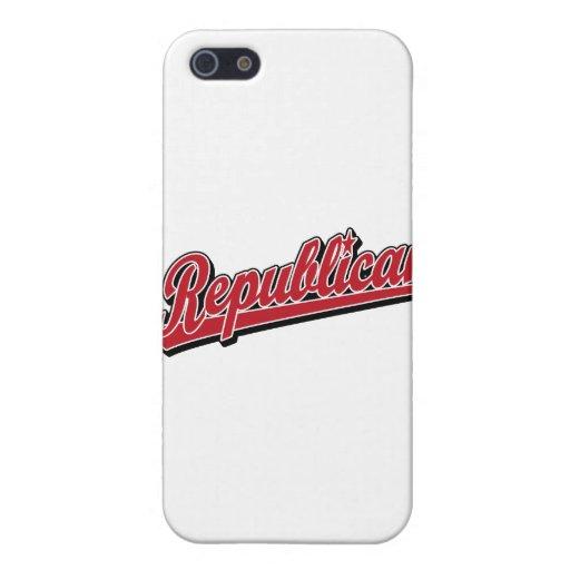 Republican Script Logo Deluxe Red iPhone 5 Case