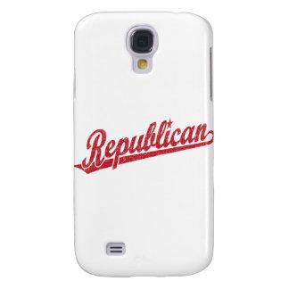 Republican Script Logo Distressed Galaxy S4 Cover