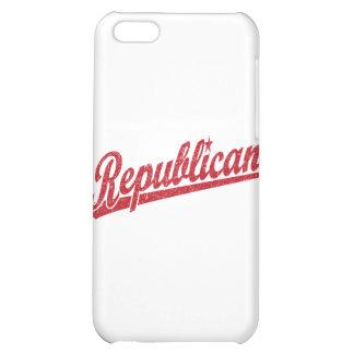 Republican Script Logo Distressed iPhone 5C Cases