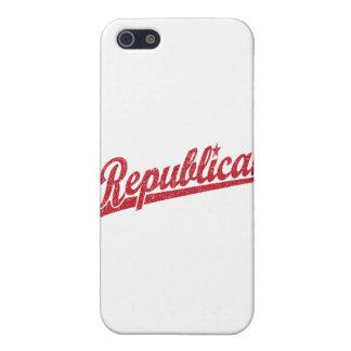 Republican Script Logo Distressed iPhone 5 Cases