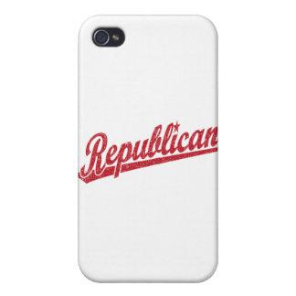 Republican Script Logo Distressed Cases For iPhone 4