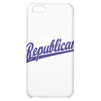 Republican Script Logo Simple Blue Case For iPhone 5C