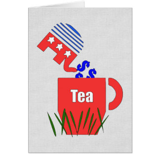 Republican Tea Card