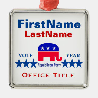 Republican Templates Metal Ornament