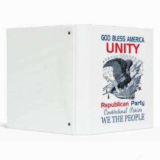 Republican Unity 3 Ring Binders