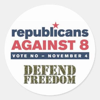 Republicans Against 8 Stickers