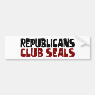 Republicans Club Seals Bumper Sticker
