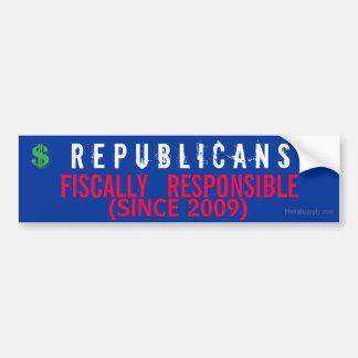 Republicans- Fiscally Responsible Bumper Sticker