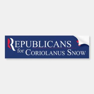 Republicans for Coriolanus Snow Bumper Sticker