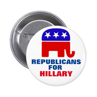 Republicans for Hillary Clinton 2 Inch Round Button