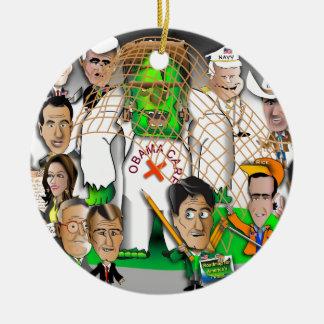 Republicans net Frankenstein Round Ceramic Ornament
