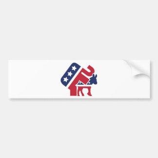 Republicans on top bumper sticker