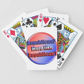 Republicant Bicycle Playing Cards