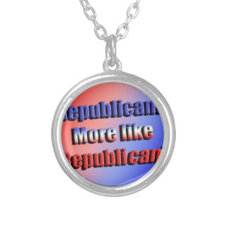 Republicant Silver Plated Necklace