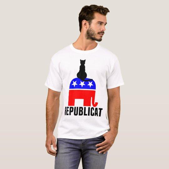 REPUBLICAT, REPUBLICAN CAT T-shirts, Funny T-Shirt