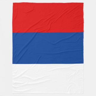 Republika Srpska Flag Fleece Blanket