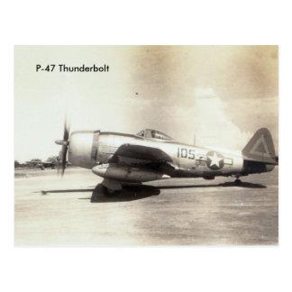 Repuplic P-47 Thunderbolt WWII aircraft Postcard