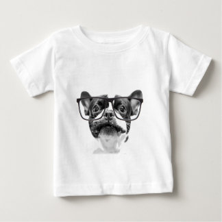 Reputable French Bulldog with Glasses Baby T-Shirt